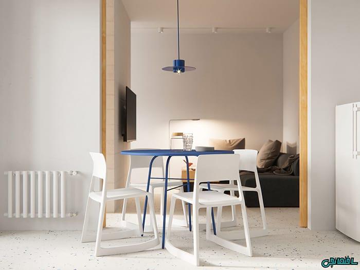 تصاویر دیزاین آپارتمانی مدرن به رنگ سفید