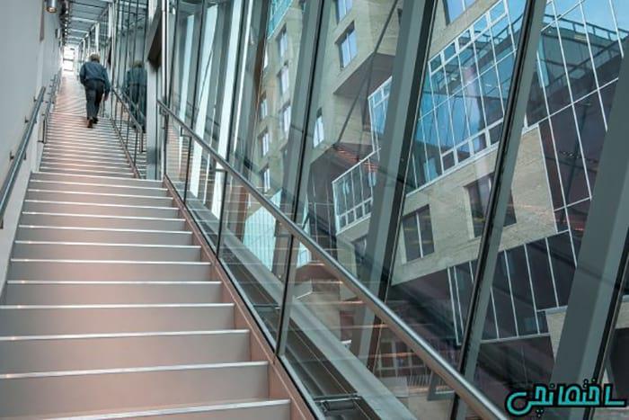 تصاویر نمای ساختمان با تلفیق شیشه و گرانیت