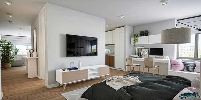 15 تصویر برتر از طراحی آپارتمان های کوچک