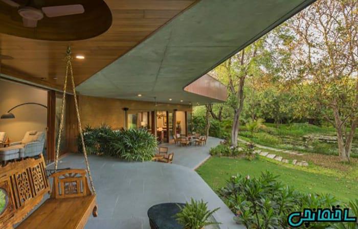 تصاویر معماری خانه منحنی شکل در دل طبیعت