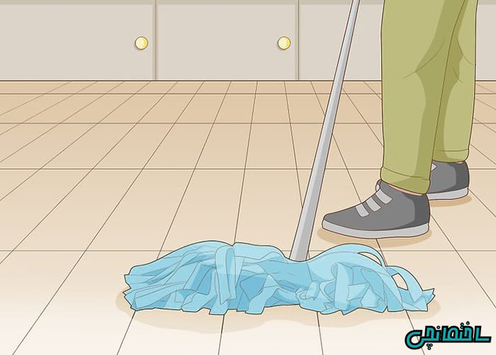 تمیز کردن کف آشپزخانه