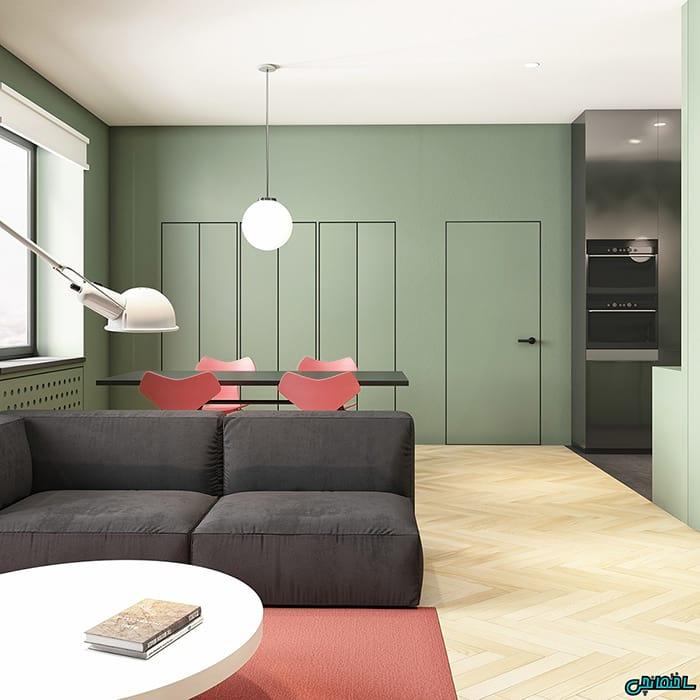 اتاق پذیرایی ساده