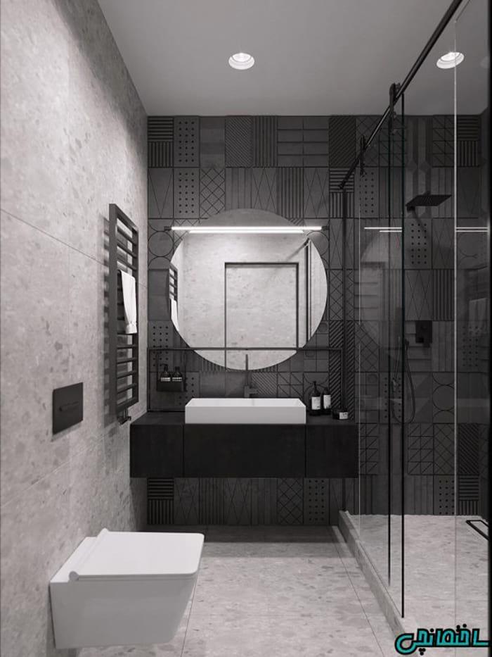 %عکس - تصاویری از تلفیق رنگ های سفید، سیاه و بژ در دکوراسیون داخلی