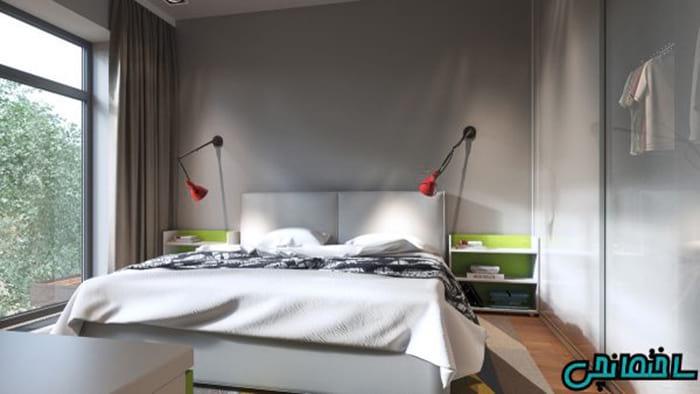 استفاده از رنگ خاکستری در طراحی اتاق