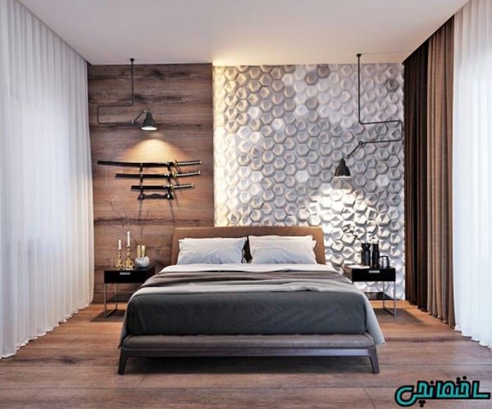 پنل های زیبا در اتاق خواب
