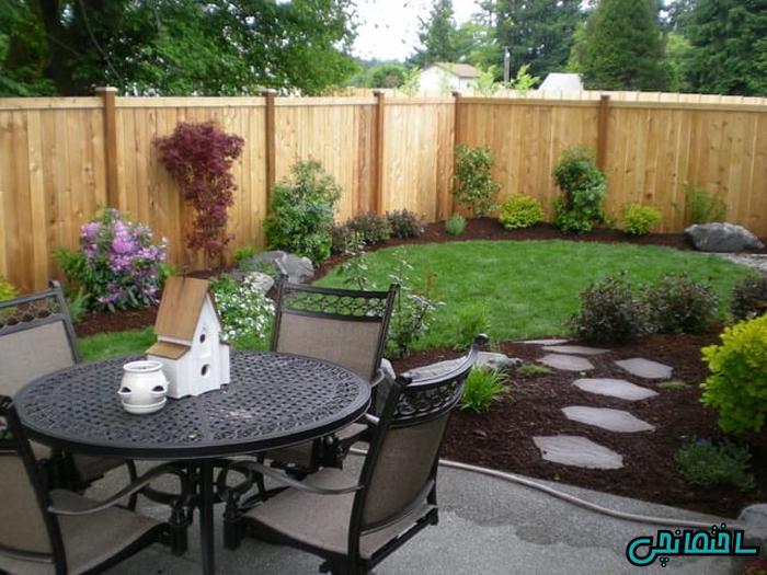 طراحی باغچه در حیاط و ساخت تراس در بخش فوقانی