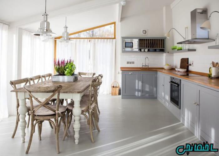 پرده آشپزخانه سفید
