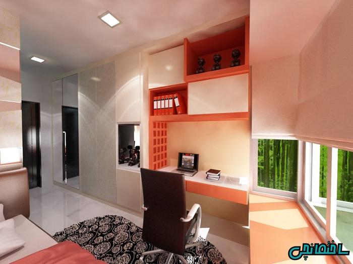 %عکس - طراحی اتاق مطالعه با ایده هایی جذاب