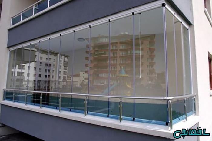 %عکس - طرحی مدرن از بالکن شیشه ای