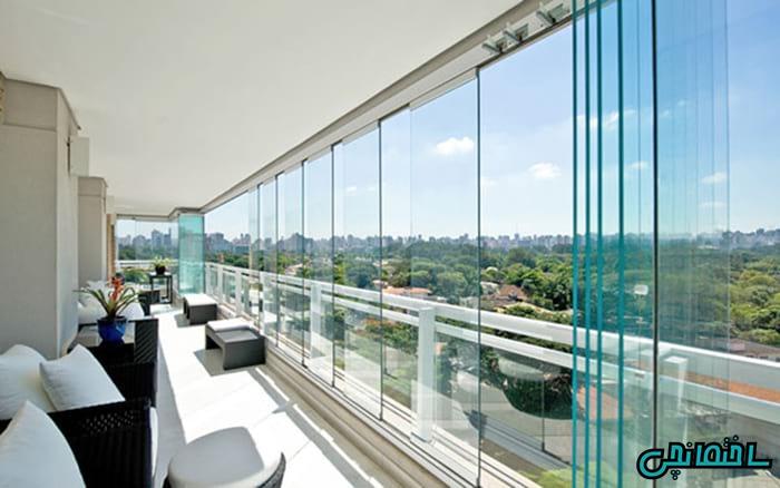 شیشه بالکن، ایده ای برای طراحی مدرن