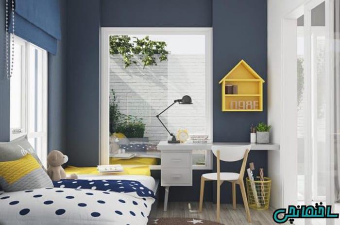 استفاده از المان های زرد رنگ در اتاق