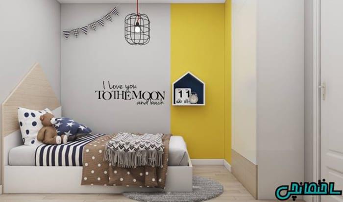 دیوار زرد در دکوراسیون داخلی