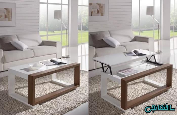 %عکس - تصاویر انواع میز قهوه و چایی خوری مدرن با چند کاربرد