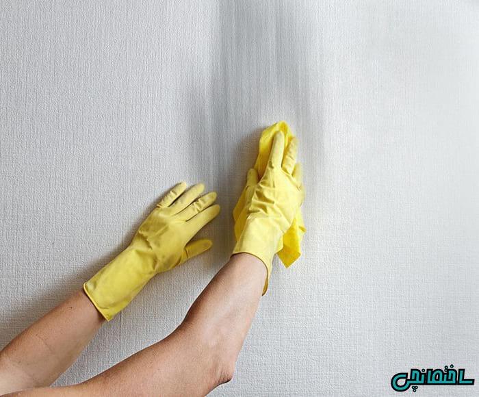 ترفندهای تمیز کردن دیوار رنگ آمیزی شده