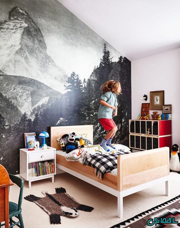 استفاده از کاغذ دیواری