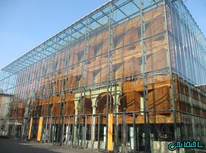 %عکس - تصاویر نمای خارجی ساختمان با چوب