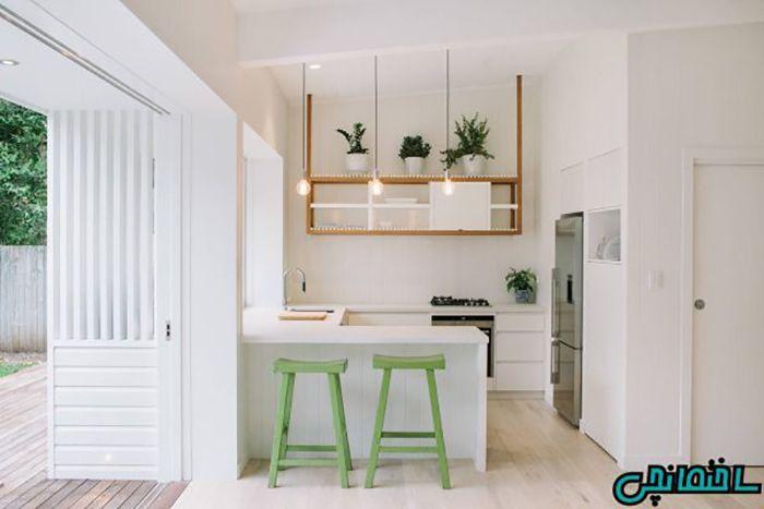 رنگ سفید در آشپزخانه