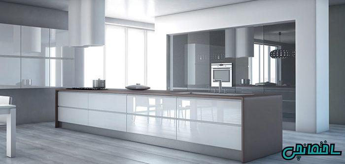 مدل کابینت آشپزخانه هایگلاس
