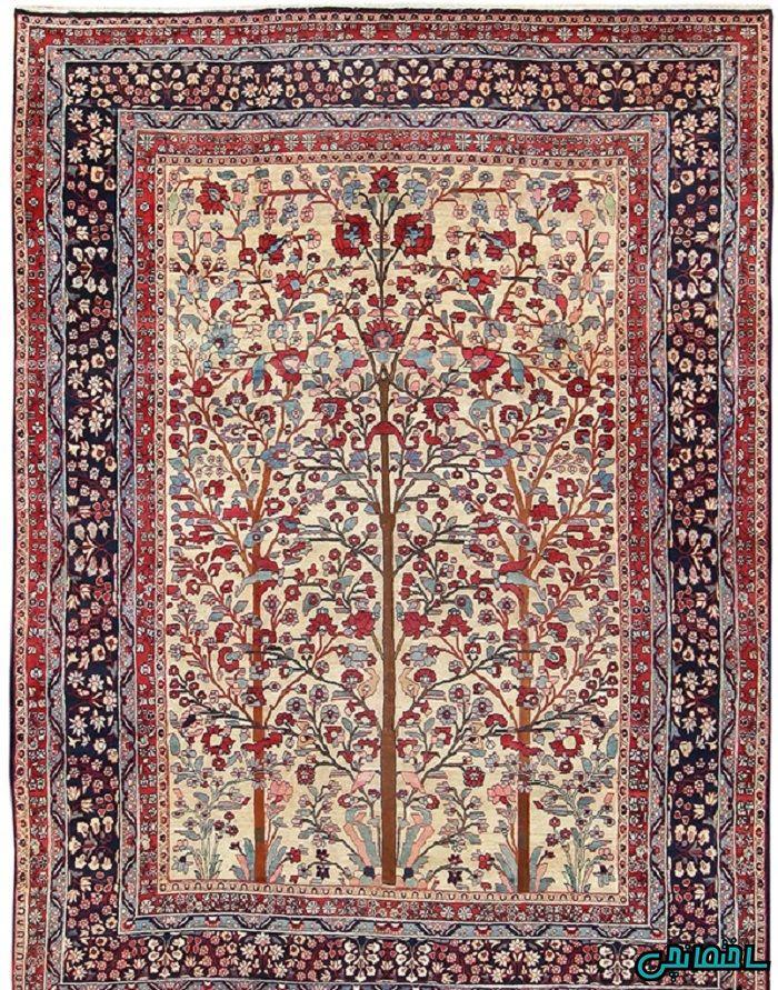 فرش ایرانی طرح درختی