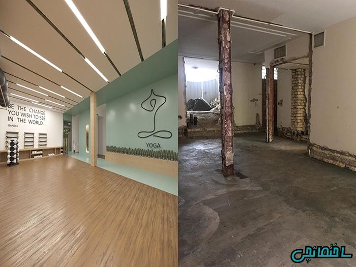 پروژه بازسازی باشگاه ورزشی یوگا در اصفهان