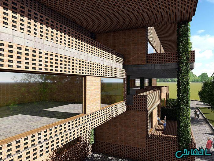 طراحی نمای آجری توسط تیم طراحی ساختمانچی