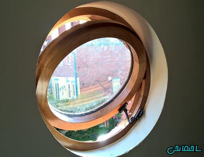 پنجره دوجداره دایره ای