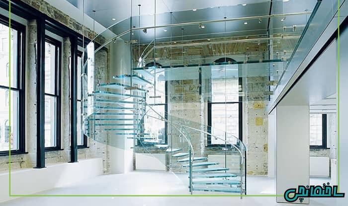 پله شیشه ای میرال