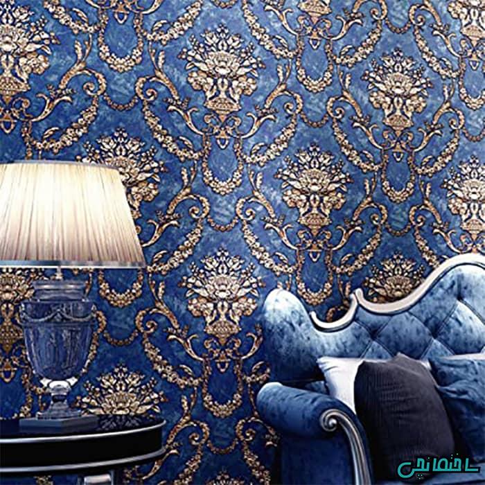 داماسک آبی طلایی