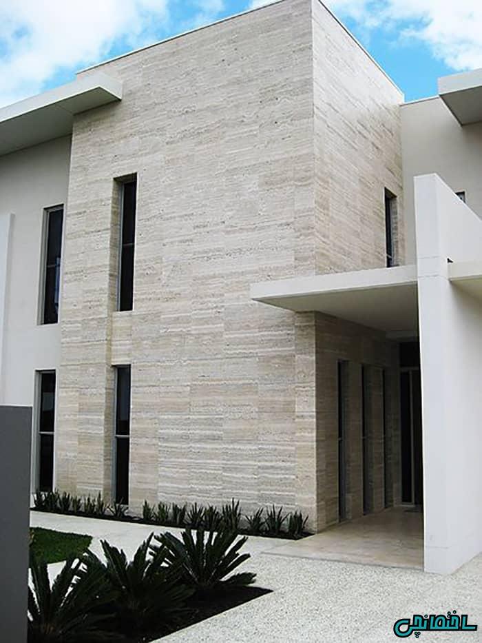نمای تراورتن ساختمان