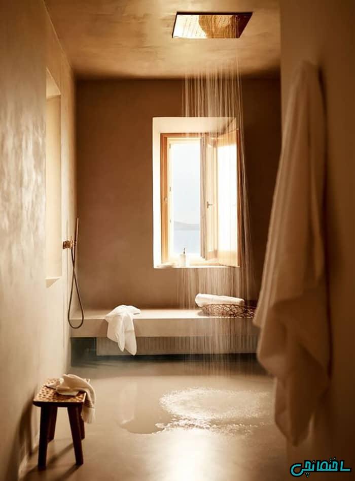 حمام با سنگ تراورتن
