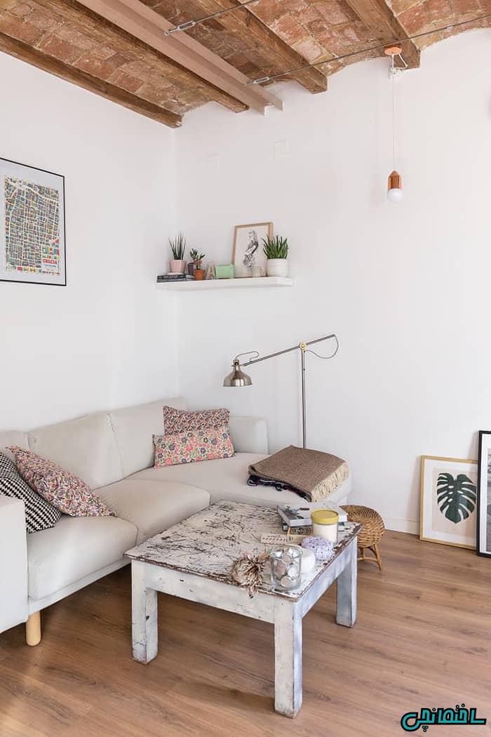 %عکس - طراحی اتاق نشیمن به سبک مینیمالیسم