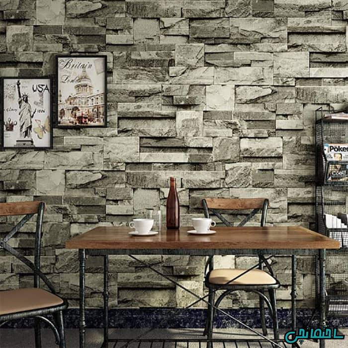 دیوار آجری خاکستری
