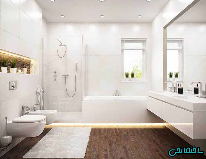 حمام جادار مینیمال