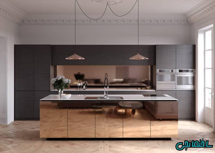 آشپزخانه ساده مسی