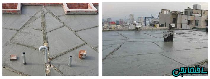 %عکس - استفاده از پوکه معدنی در شیب بندی سطوح ساختمان