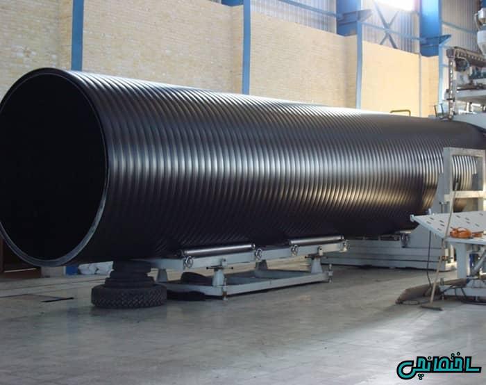 تولید لوله پلی اتیلن سایز بزرگ