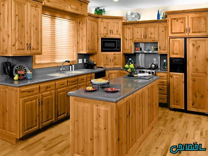 %عکس - کابینت چوبی، زیباترین المان در قلب خانه