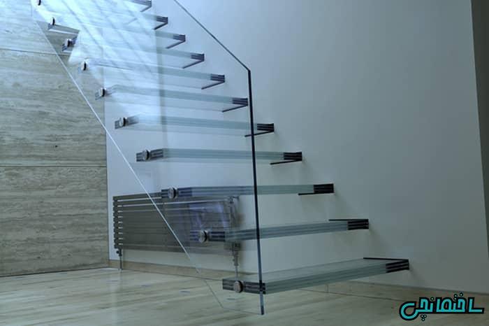 پله شیشه ای دو جداره