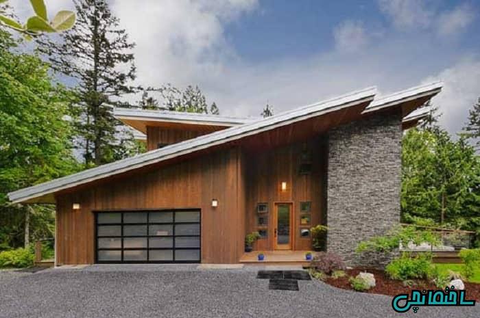 سقف شیروانی یک طرفه