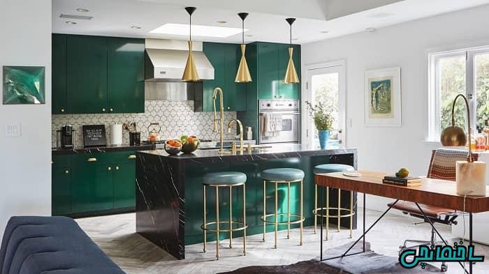 آشپزخانه سبز رنگ