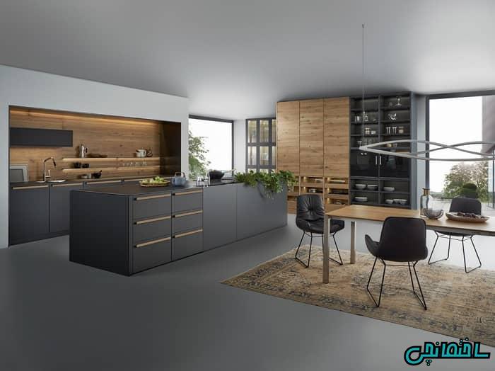 رنگ طوسی در آشپزخانه