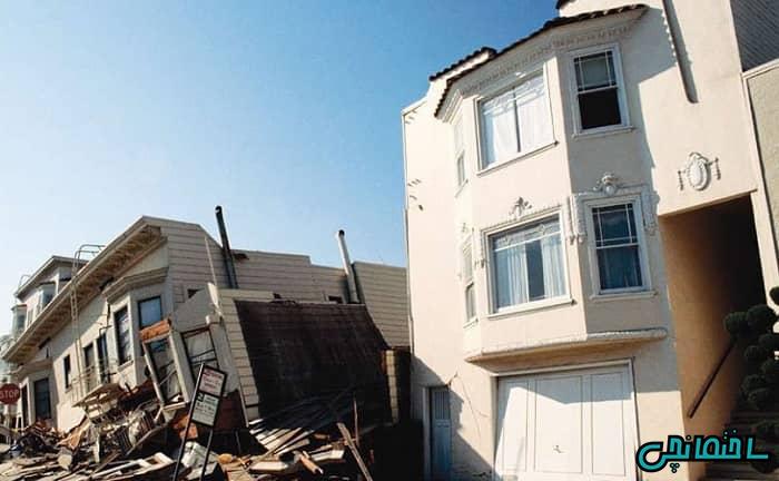 تخریب خانه بر اثر زلزله
