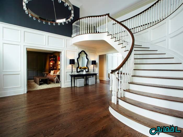 راه پله گرد کلاسیک