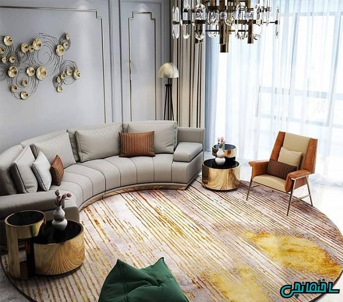 فرش گرد در نشیمن