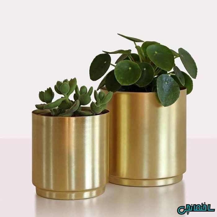گلدان فلزی