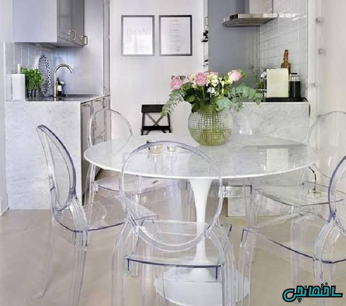 میز و صندلی شیشه ای
