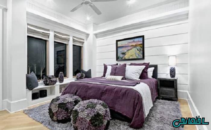 بنفش در اتاق خواب