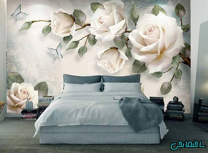 پوستر سه بعدی دیوار پشت تخت خواب