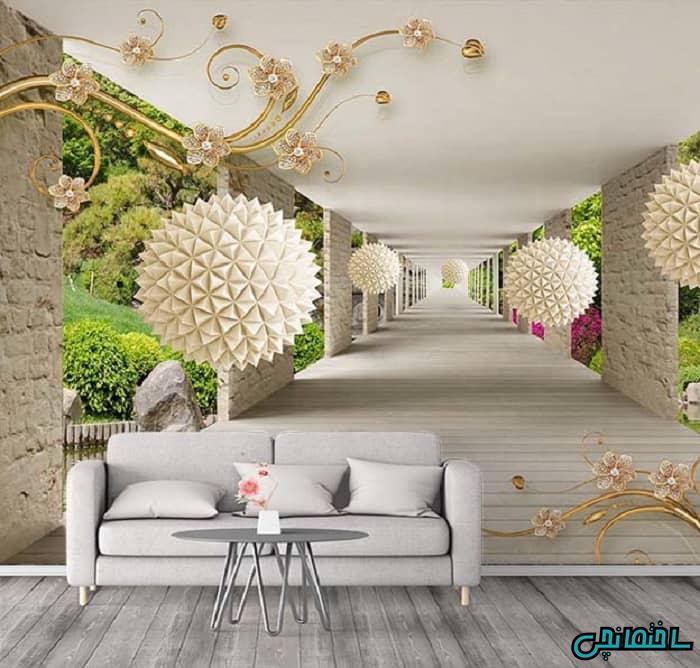 مدل پوستر سه بعدی طرح گل و طبیعت