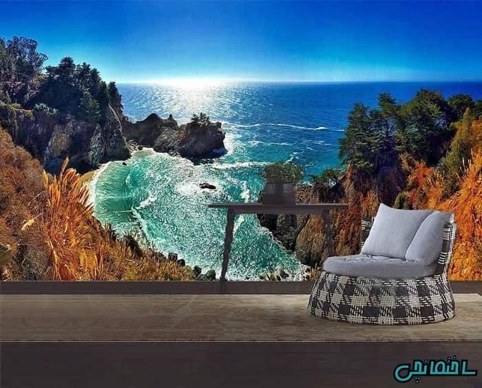 پوستر سه بعدی طرح ساحل دریا